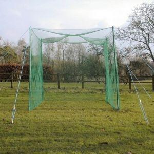 Golf Driving Cage Net & Posts - 3m x 3m x 3m
